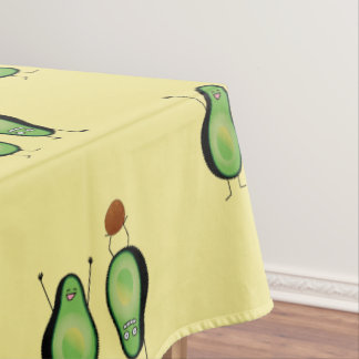 Avocado funny cheering handstand green pit tablecloth