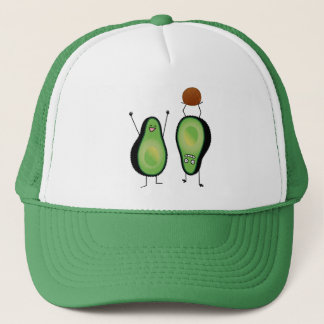 Avocado funny cheering handstand green pit trucker hat