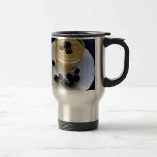 Avocado grape smoothie travel mug