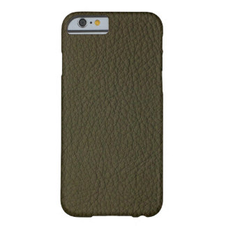 Avocado Green Faux Leather Barely There iPhone 6 Case