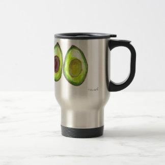 Avocado green fruit travel mug