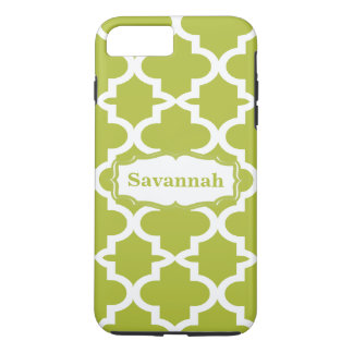 Avocado Green Moroccan Tile Personalized iPhone iPhone 7 Plus Case