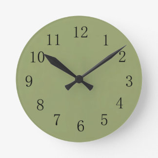 Avocado Green Wall Clock