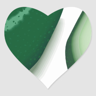 Avocado Heart Sticker