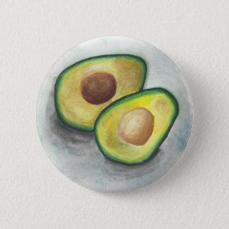 Avocado in Watercolor 2 Inch Round Button