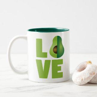 Avocado Love Food Vegan Vegetarian Healthy Two-Tone Coffee Mug