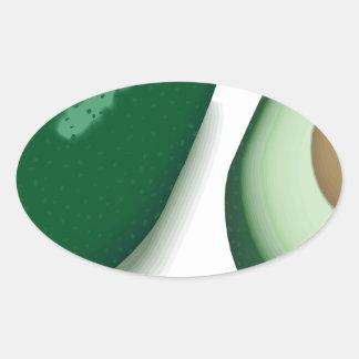 Avocado Oval Sticker