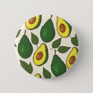 Avocado pattern 2 inch round button