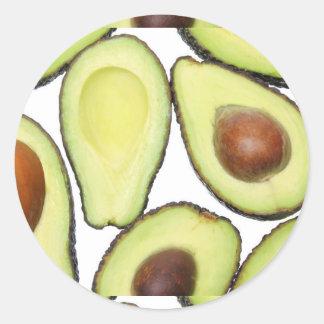 Avocado Pattern Classic Round Sticker