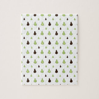 Avocado Pattern Jigsaw Puzzle