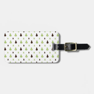 Avocado Pattern Luggage Tag
