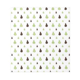 Avocado Pattern Notepad