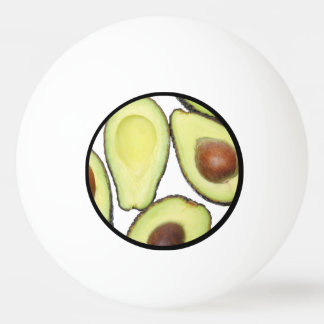 Avocado Pattern Ping Pong Ball