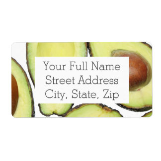 Avocado Pattern Shipping Label