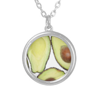 Avocado Pattern Silver Plated Necklace