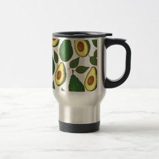 Avocado pattern travel mug
