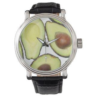 Avocado Pattern Wrist Watches