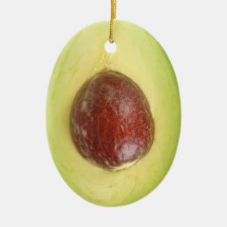 Avocado Pit Ceramic Ornament