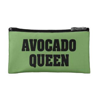 Avocado Queen funny small cosmetics bag