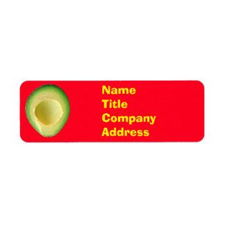 Avocado Red Green 4Victor Return Address Label
