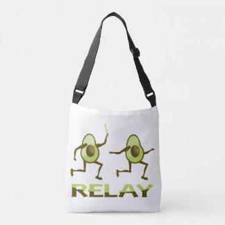 Avocado Relay Race Cartoon Crossbody Bag