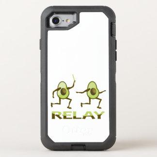 Avocado Relay Race Cartoon OtterBox Defender iPhone 8/7 Case