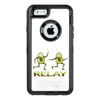 Avocado Relay Race Cartoon OtterBox Defender iPhone Case