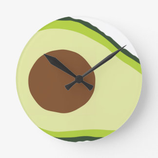 Avocado Round Clock