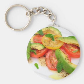 Avocado Salad Basic Round Button Keychain