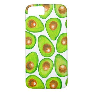 Avocado slices watercolor iPhone 8/7 case