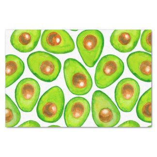 Avocado slices watercolor tissue paper