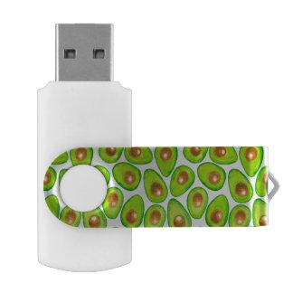 Avocado slices watercolor USB flash drive