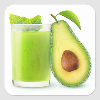 Avocado smoothie square sticker