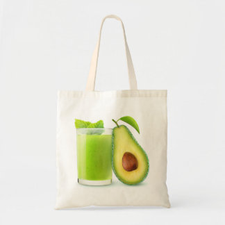 Avocado smoothie tote bag