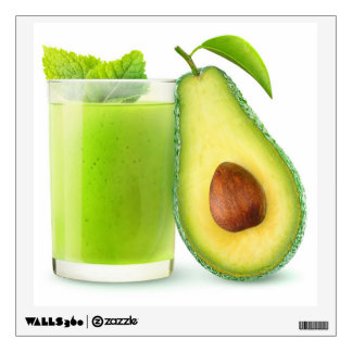 Avocado smoothie wall decal