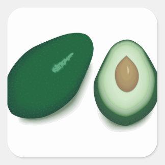 Avocado Square Sticker
