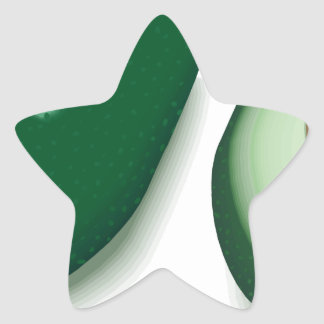 Avocado Star Sticker