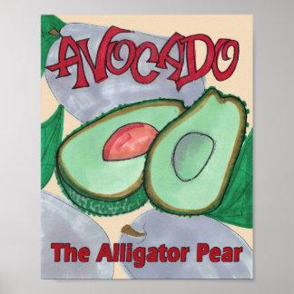 Avocado, The Alligator Pear Kitchen Poster Print