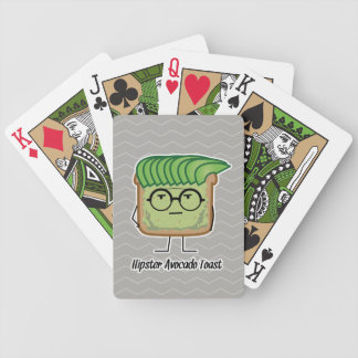 Avocado Toast Hipster glasses greaser hair Bicycle Playing Cards