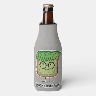 Avocado Toast Hipster glasses greaser hair Bottle Cooler