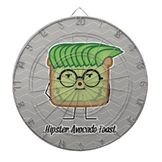 Avocado Toast Hipster glasses greaser hair Dartboard