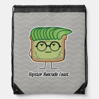 Avocado Toast Hipster glasses greaser hair Drawstring Bag