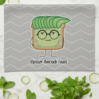 Avocado Toast Hipster glasses greaser hair Kitchen Towel