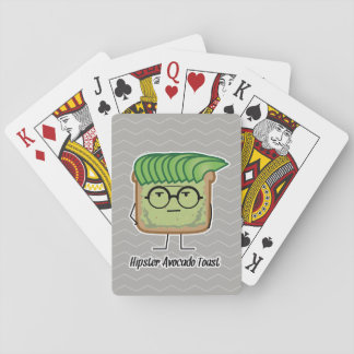 Avocado Toast Hipster glasses greaser hair Playing Cards