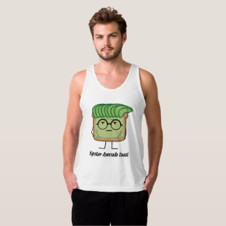 Avocado Toast Hipster glasses greaser hair Tank Top