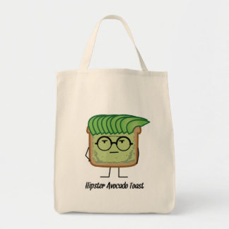 Avocado Toast Hipster glasses greaser hair Tote Bag