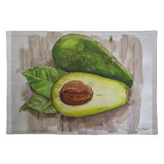 Avocado Watercolor Art Cloth Place Mat