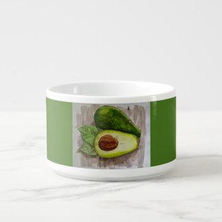 Avocado Watercolor Design Chili Bowl