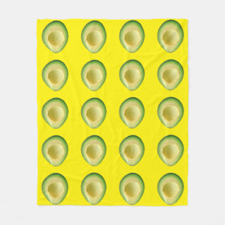Avocado Yellow 4Tracie Fleece Blanket