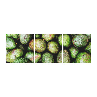 Avocados 3 Panel Canvases Canvas Print